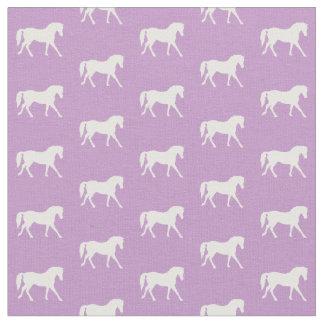 Purple Pony Fabric, Light Purple Horse Fabric