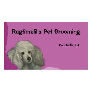 Purple Poodle Pet Business Card