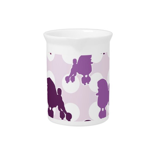 Purple Poodle Polka Dot Beverage Pitcher