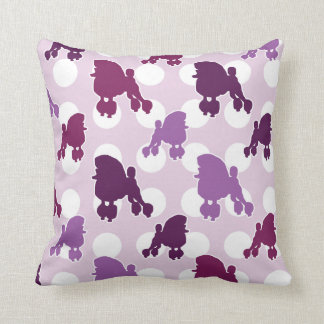 Purple Poodle Polka Dot Cushion