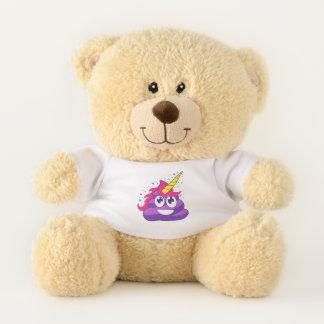 Purple Poop Unicorn Emoji Teddy Bear