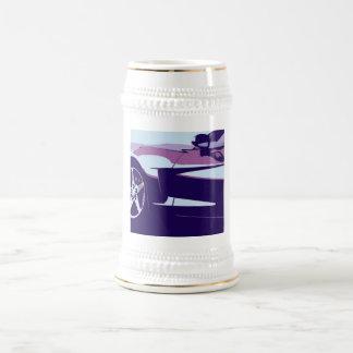 Purple Pop Art Corvette Beer Stein