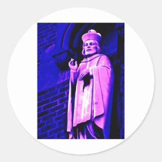 Purple Pope Round Sticker