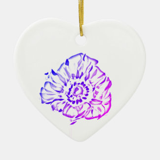 purple poppies christmas ornament