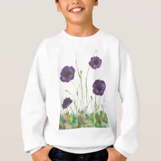 Purple Poppies in the grass Sweatshirt