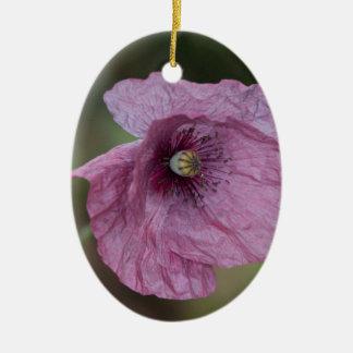 Purple Poppy Christmas Ornament