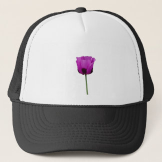 Purple Poppy Trucker Hat