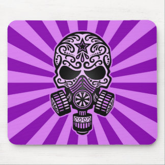 Purple Post Apocalyptic Sugar Skull Mouse Pads