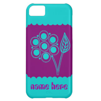 Purple Posy iPhone cases Add Name iPhone 5C Case