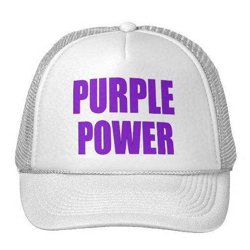 PURPLE POWER TRUCKER HAT