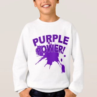 Purple Power with a Big Splat of Paint Sweatshirt