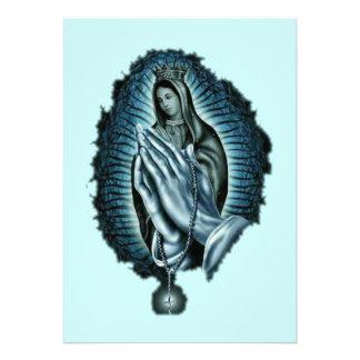 Purple Prayer Blessed Virgin Mary Invitation