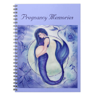 Purple pregnancy mermaid memory book by Renee Spiral Notebook