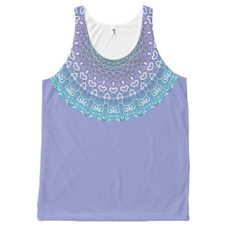 Purple Pretty Neckline Mandala All-Over Print Tank Top