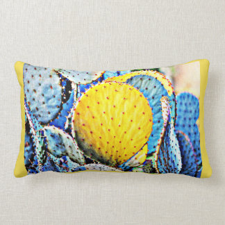Purple Prickly Pear Cactus Custom Pillow