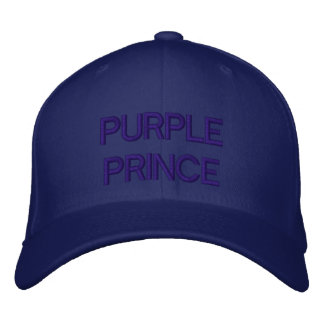 PURPLE PRINCE - subliminal statement hat Embroidered Baseball Cap