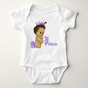 Purple Princess African American Baby Girl Shirts