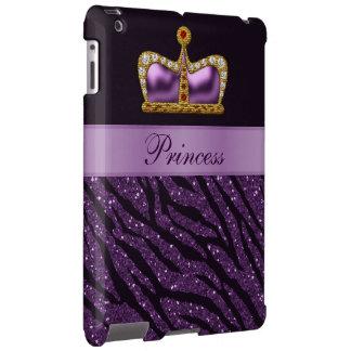 Purple Printed Princess Crown &  Zebra Glitter