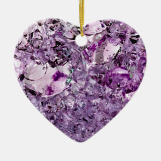 Purple Prismatic Ceramic Heart Decoration