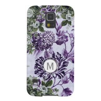 Purple Profusion Floral Garden Monogram Galaxy S5 Case