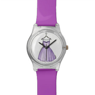 Purple Prom Dress Fifties Vintage Clothing Watch