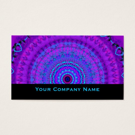 Purple Psyche Mandala kaleidoscope Business Cards