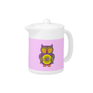 Purple Psychedelic Owl