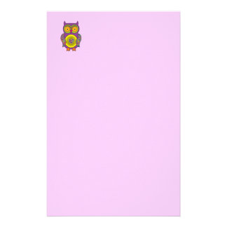 Purple Psychedelic Owl Stationery