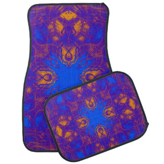 Purple psychedelic pattern car mat