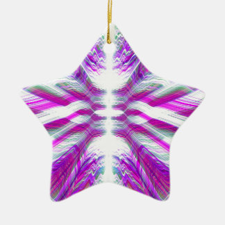 Purple psychedelic pattern christmas ornament