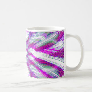 Purple psychedelic pattern coffee mug