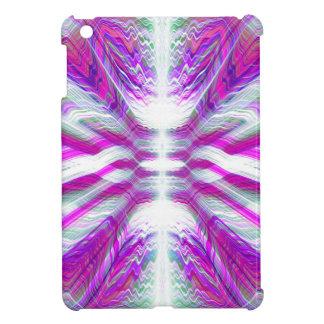 Purple psychedelic pattern iPad mini cases