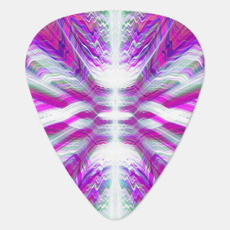 Purple psychedelic pattern plectrum