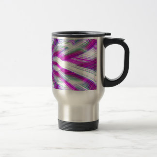 Purple psychedelic pattern travel mug