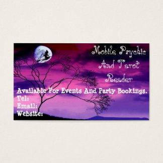 Purple Psychic And Tarot Reader Business Card