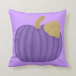 Purple Pumpkin Gold Leaf Pillows