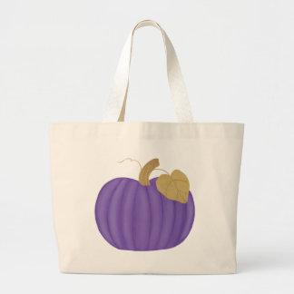 Purple Pumpkin Painting, canvas tote bags