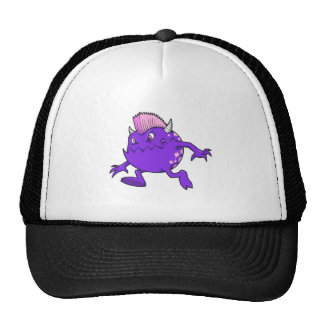 purple punk devil mohawk monster hat
