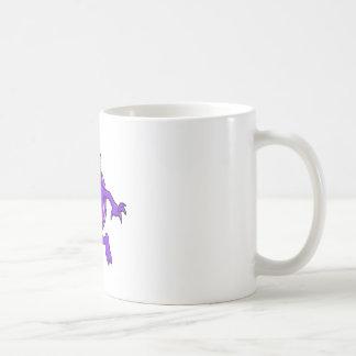 purple punk devil mohawk monster mug