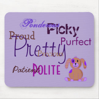 Purple Puppy Mouse Pad