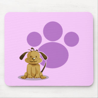 Purple Puppy Paw Mouse Mat