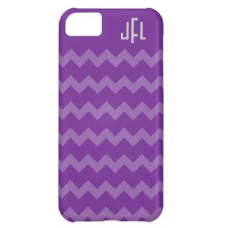 Purple & Purple Chevron Monogrammed iPhone 5 iPhone 5C Case