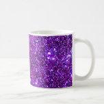 Purple Purple Sparkle Optical Illusion Art Basic White Mug