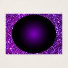 Purple Purple Sparkle Optical Illusion Art Business Card