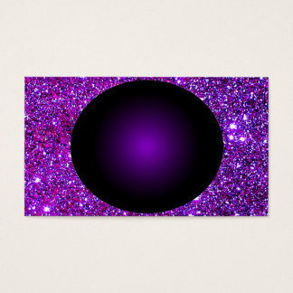 Purple Purple Sparkle Optical Illusion Art Business Card