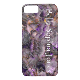 Purple Quartz -monogrammed iPhone 7 Case
