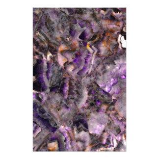 Purple quartz stationery paper