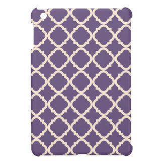 Purple Quatrefoil iPad Mini Case