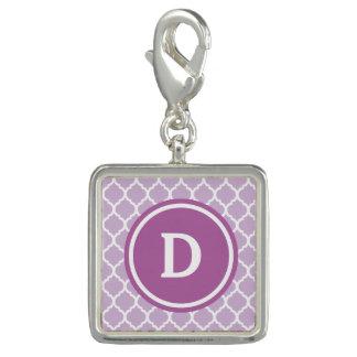 Purple Quatrefoil Monogram