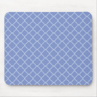 Purple Quatrefoil Mouse Mat